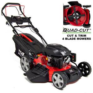 "Petrol Lawn Mower Self Propelled Electric Start 4 Blades 21"" 53cm 200cc"