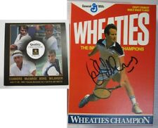 John McEnroe Autograph Custom Wheaties Cereal Box SIGNED Tennis Match 1999