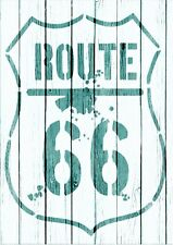 A5 Stencil,ROUTE 66, vintage, signs,Shabby Chic,fabric, furniture