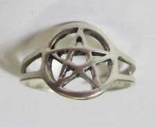 Sterling Silver Adjustable Toe Ring Star Design Solid 925 Oxidized Jewelry