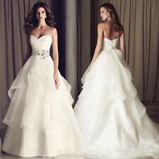 2018 Style Sweetheart Neckline Crystals Wedding Dresses US SIZE2-14 Instock Size