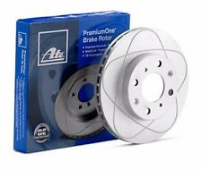 2 Rear ATE PREMIUM ONE SLOTTED ROTORS True OEM Supplier Ships Fast! CW09711