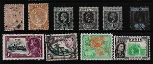 Pre Decimal,Pacific,Fiji,1/-,5/-,10/- & 10/-,CV£175,Used,#1896