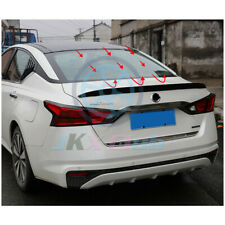 For Nissan Altima 2019 Gloss Black ABS Rear Tail Trunk Spoiler Wing Lip Trim 1PC