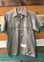 *NEW* DICKIES Short Sleeve Work Uniform Men's Medium Gray