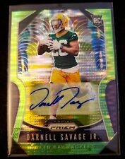 Darnell Savage Jr. 2019 Panini Prizm SP Neon Green Pulsar Autograph RC Packers
