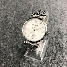 Women's Stainless Steel Dress Round Crystal Silver Wristwatch