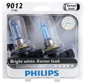 2x Germany Philips 9012 Upgrade Xenon White Ultra CrystalVision HIR2 Light Bulb