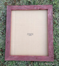 16x20 Flat Red Washed rustic barnwood barn wood primitive picture photo frame