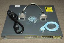 Cisco WS-C3750G-24PS-E PoE GigE Switch Latest IOS 122-55.SE10 w CAB-STACK-50CM