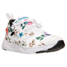 AUTHENTIC Reebok FuryLite Run White Floral Blossom Gold Blue V63575 Women size