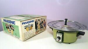 Vintage Panasonic Tempura Fondue Cooker Avocado Green New Old Stock