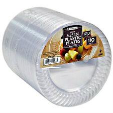 Clear Plastic Plates Bulk Wedding Parties Dessert 6 Inch Disposable 100 Count
