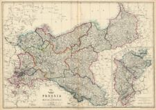 PRUSSIA & MECKLENBURG. Railways. JW LOWRY for the Dispatch atlas 1863 old map