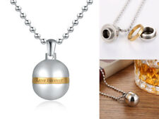 Love Forever Women Stainless Steel Opened Perfume Bottle Pendant Necklace Men
