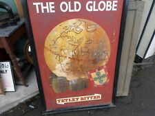 The Old Globe Vintage double sided pub sign Tetley bitter
