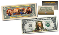 Declaration of Independence Official Legal Tender U.S. $1 Bill w/COA * 2-Sided *