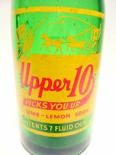 vintage ACL Soda POP Bottle: green UPPER 10 of ALTOONA, PA. - 7 oz