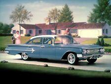 1960 Chevrolet Belair Sedan, Blue/White, Refrigerator Magnet, 40 MIL