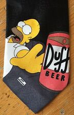 THE SIMPSONS Neck Tie HOMER SIMPSON Duff Beer BART Angel & Devil BLACK 146 cm