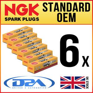 6x NGK BP6E (7529) Standard Spark Plugs For ASTON MARTIN DB5 4.0 63-->65
