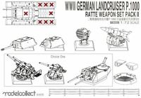 Modelcollect UA72310 - 1/72  WWII Germany Landcruiser p.1000 ratte weapon set