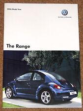 2006 VW RANGE Brochure -Polo Golf R32 Beetle Jetta Passat Touareg Phaeton Sharan