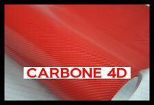 FILM VINYLE CARBONE 4D ROUGE 152 x 200 cm