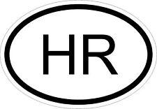HR CROATIA COUNTRY CODE OVAL STICKER bumper decal car