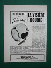 11/1965 PUB SIERRA ENGINEERING CASQUE AVIATION USAF HELMET VISIERE DOUBLE AD
