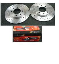 PEUGEOT 206CC 306 1.9D TD HDI DRILLED GROOVED BRAKE DISCS MINTEX BRAKE PADS