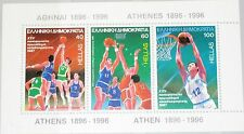 Greece Grecia 1987 bloque 6 S/s 1598 European baloncesto CS WM Sport mnh