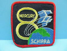 "*VINTAGE* NASA MERCURY - ATLAS 8 MISSION PATCH 1962  -  3"" SQUARE IRON-ON EMBLEM"