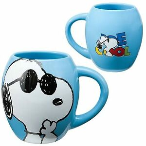 JOE COOL SNOOPY DOG Coffee Cup Peanuts Charlie Comic Book Cartoon Character Mug