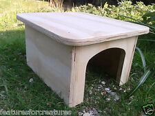 MEDIUM PINE PLYWOOD PLAY TUNNEL /SHELTER FOR RUN OR CAGE GUINEA PIG,DWARF RABBIT