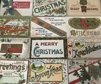 Lot of 12~ LARGE LETTER~MERRY CHRISTMAS~Antique Holiday~Postcards--a936