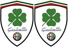 2 stickers adhésifs ALFA ROMEO  Giulietta  Q4 (idéal pour aile avant)