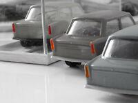 Trillerpfeife-Pfeife-Signalpfeife--3 Stück--Blau-Plastik-original DDR-unbespielt