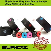 Supacaz Bicycle Super Sticky Kush Galaxy Bar tape -Black Oil Slick Pink Red Blue