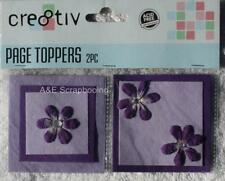 Cre8tiv Page Toppers - Purple - 2 pieces