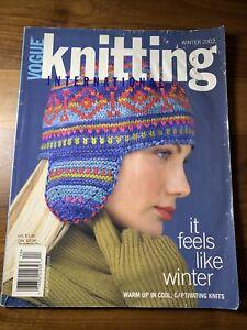Vogue Knitting Magazine Winter 2002 purling Eisaku Noro Martin Storey vintage