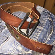Diesel Vintage Leather Brown Belt Unisex