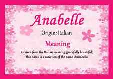 Anabelle Personalised Name Meaning Certificate