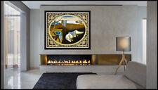 Salvador Dali Original Woven Tapestry Signed Persistence Of Memory Melting Clock