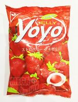 Yoyo Jelly Tropical Fruit Juice Sweet Strawberry Jelatin Gummy Jelly Candy 80g