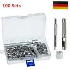 DIY 100 Set Ösen mit Scheibe 10-16mm Durchmesser Ösenzange Ösenwerkzeug DE Fast