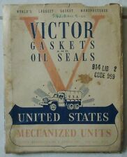 RARE 1942 VICTOR GASKETS CATALOG US MILITARY VEHICLES HARLEY DAVIDSON INDIAN