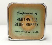 Vintage BARLOW Advertising Tape Measure Smithville Bldg. Supply Smithville, TN