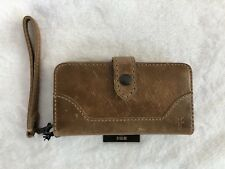 Frye Melissa Beige Brown Leather Phone Case Wristlet Wallet Db134 26cf95ac3e