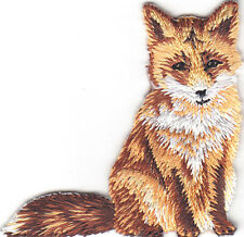FOX - FOREST ANIMAL - ZOO - IRON ON EMBROIDERED PATCH - WILD ANIMALS